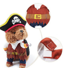 1 Set XL Pet Small Dog Cat Pirate Costume Outfit Jumpsuit Clothes for Halloween