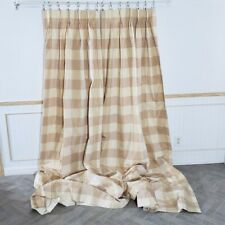 Custom Drapes Squares Yellow Tan Beige Cotton Lined Interlined 44 x 99 2 Panels