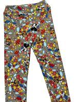 Kids Disney LuLaRoe Leggings Size L/XL- Mickey Mouse, Pluto, Goofy, Donald- RARE