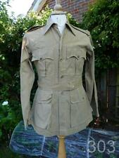 WWII British Military Army Tropical Aertex Bush Jacket / Tunic/ Shirt, Indian
