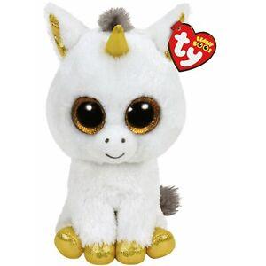 NEW TY Pegasus Unicorn | Regular | Genuine Plush Beanie Boos 36179