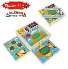 MELISSA Doug Legno Principiante Pattern Blocco Forma Early Learning Puzzle Montessori