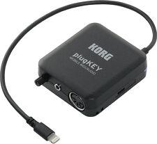 Korg PlugKey MIDI/Audio Interface for iOS w/Lightning Connector PLUGKEY-BK New