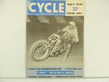 Vintage July 1961 CYCLE Magazine Parilla Scrambler Scooter NSU Grand Prix L2855
