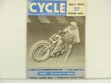 Vintage July 1961 CYCLE Magazine Parilla Scrambler Scooter NSU Grand Prix L2855