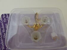 Dolls House Miniature 1:12th Scale Lounge Lighting 3 Arm Tulip Chandelier