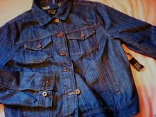 FOREVER 21 F21 Casual Classic Dark Denim Jacket *NEW* Size Large