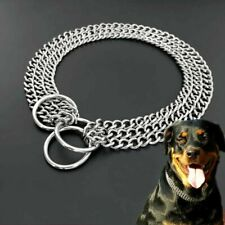 "Four Strands Large Dog Stainless Steel Heavy Chain Collar Choker 24""62cm Link"
