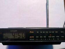 VINTAGE TOZAI Cordless AM/FM Alarm Clock Radio - MODEL #6868 TESTED