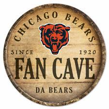 NFL Chicago Bears Fan Cave Rund Wood Sign Holzschild Holz Deko Football