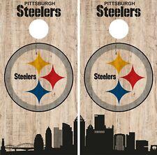 Pittsburgh Steelers Cornhole Wrap NFL Game City Skyline Skin Vinyl Decal CO879