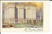 CA-222 CA, San Francisco, St. Francis Hotel White Border Era Postcard John Stoll
