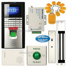 Fingerprint Entry RFID Access Control System Set + 600lbs Magnetic Door Lock