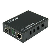 Gigabit Ethernet Fiber Media Converter Copper to Fiber 10/100/1000M to SFP