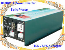 8000W LF Split Phase PSW 12V DC/110V,220V AC 60Hz Power Inverter LCD/UPS/Charger