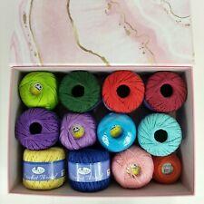 Lot 12 Thread Art Crochet Thread, Dmc Petra, Hh Lizbeth 100% Cotton 800gm w/Box