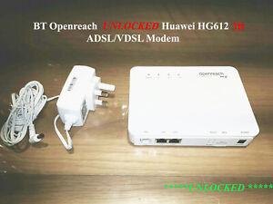 Huawei HG612 3B VDSL/FTTC Fibre Modem Refurbished UNLOCKED BT Openreach