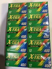 Fuji Superia X-Tra 400 35mm 12 Exp. Expired Pack Of 10 Rolls