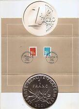 FRANCE - Souvenir Folder - Euro - Postmarked 31-12-01 and 01-01-02