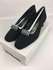 Daisy Womens Shoes Pumps Tiffany Black Rhinestone Formal Dress Size 7.5AA