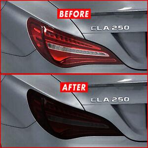 FOR 13-19 Mercedes CLA Tail Light SMOKE Precut Vinyl Tint Overlays