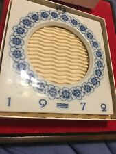 Royal Copenhagen 1972 porcelain - Large picture frame With Silver Hanger, Wbox