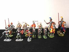 Elastolin 7cm-70mm   Pro-Painted Knights, 4 Conversion, Total 16 Figures