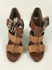 Sachi  Womens Shoes Leather Size 6 High Heels Caramel Strappy Extra Soles