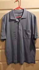 Izod Men Golf Classix Classic Light Blue Polo Short-Sleeve Shirt M Medium New