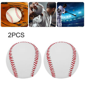 2x Soft Leather Sport Practice & Trainning Base Ball BaseBall Softball New uk