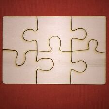 10 sets PUZZLE shape 20x15cm PLAIN UNPAINTED WOODEN GIFT CRAFT SHAPE