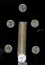 LOT OF 50 1985  P BU NOT UN-CIRCULATED ROOSEVELT DIME 10 CENTS BANK WRAPPED ROLL