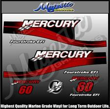 MERCURY - 60 hp - EFI DECAL SET - OUTBOARD  DECALS