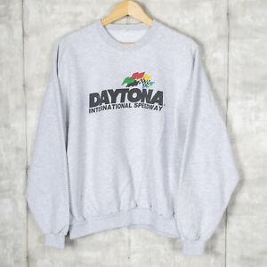 Daytona International Speedway Vintage Sweatshirt Size 2XL Gray Nascar Racing