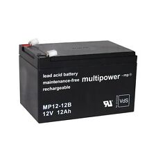 Blei-Gel Akku Multipower MP12-12B Batterie 12V 12Ah 6,3mm NP12-12 FG21202 Accu