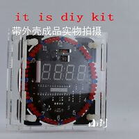 DS1302 Rotating LED Electronic Temperature Display Digital Clock DIY KIT + BOX