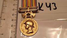 Orden Frankreich Feuerwehr Verdienstmedaille golden (k43-)