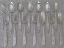 AMBASSADOR 1847 Rogers silverplate 8 DINNER FORKS +  6 TABLESPOONS mono S