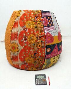 Handmade dorm room chair kantha Bohemian Hippie Bean Bag Gypsy Ottoman Pouf BD36