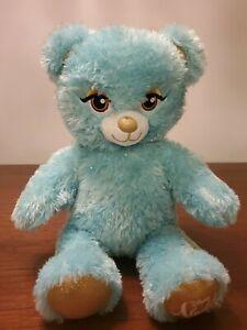 "Build A Bear Disney Aladdin Princess Jasmine Teddy Bear Blue Silver Plush 16"" EC"
