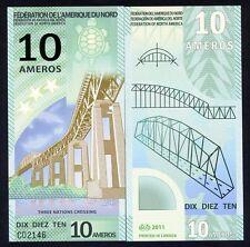 Federation of North America, 10 Ameros, 2011, Polymer, New, UNC