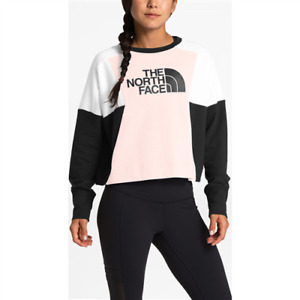 The North Face logo cropped pullover women's sweatshirt - Pink  X-LARGE (XL)