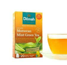 Dilmah Pure CEYLON GREEN TEA With Moroccan Mint Flavoured 20 Ceylon Tea Bags 40g