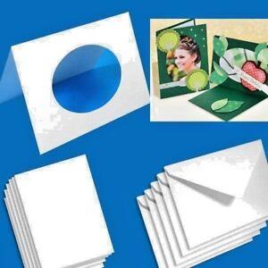 Folia Passepartoutkarten 10er Pack, 250g/qm, DIN A6, oval zum selber Gestalten