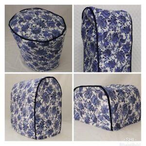 Blue Floral Premium Cotton Appliance Cover