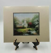 Thomas Kinkade w Coa sealed New 1999 Vintage Hometown Chapel Matted Print