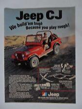 1979 Print Ad Jeep CJ Car Automobile ~ We Build 'Em Tough Because You Play Rough