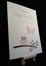 Personalised Handmade Happy Birthday Card - Aunty,Auntie,Friend,Sister,Mum, Mam