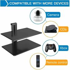 2 Floating Shelf TV Stand Wall Mount F/DVD Players/Games Consoles/Tv Accessories