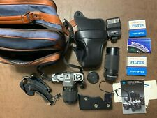 Minolta X-370 35mm Film Camera With Accessories - Not Tested